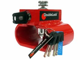 DoubleLock Triangle Lock aanhangerslot RED - SCM
