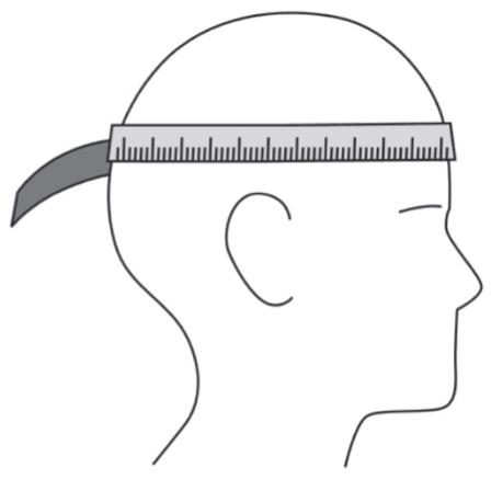 Maattabel Helm
